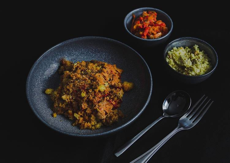 Recipe of Any-night-of-the-week The vegetable Ragout with couscous & sausage