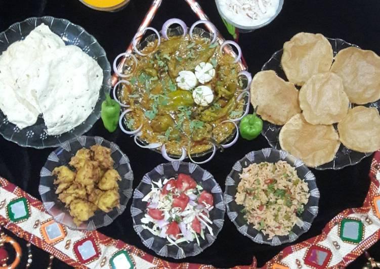 What are some Dinner Ideas Royal Bhavnagari mirchi ka jalwa (Gujarati thali)