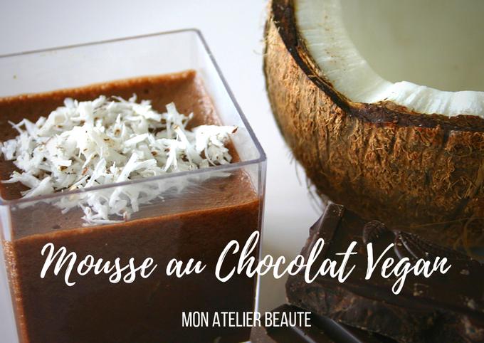 Mousse au chocolat vegan - sans oeuf!