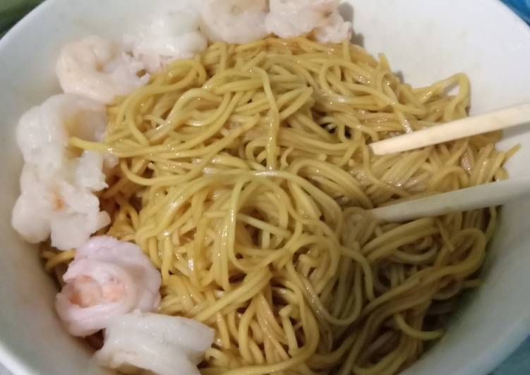 Resep Bakmie udang (+baso ikan)Lunchbox suami part 11 Paling dicari