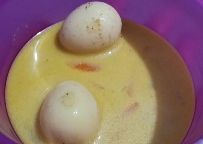 sayur lodeh telur puyuh (mpasi 10 bulan +) - resepenakbgt.com