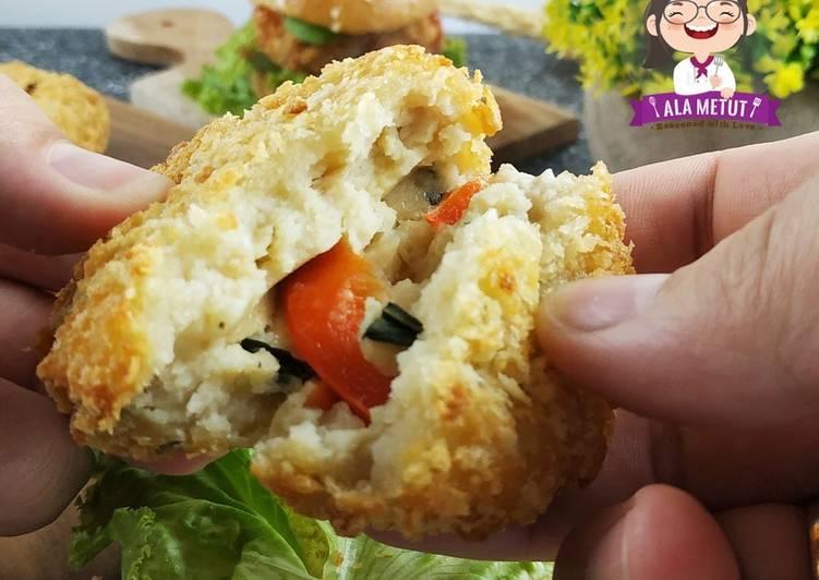 Vegan Tofu Patty Burger alaMetut 👩🍳