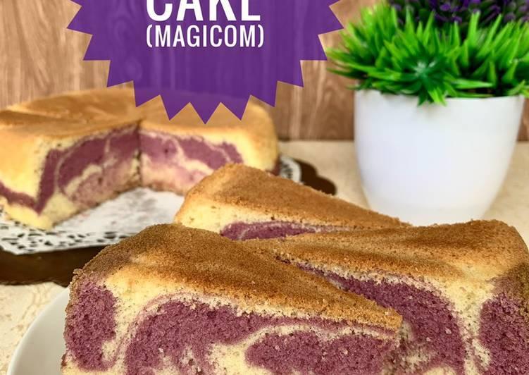 Taro Marble Cake (Magicom help)