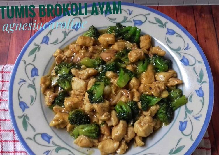 Tumis brokoli ayam