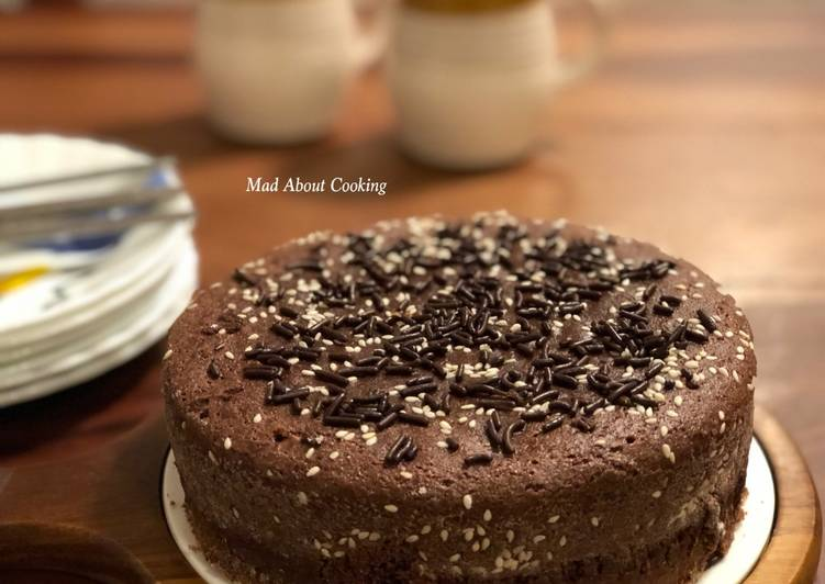 15 Minute How to Make Quick Chocolate Milk Powder Cake – No Egg, No Butter, No All Purpose Flour – Pressure Cooker Method