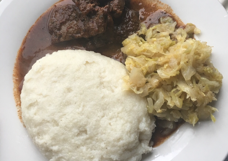 Recipe: Perfect Pap and beef liver