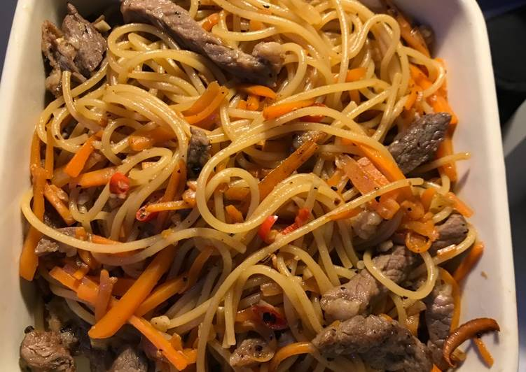 Fried spaghetti with carrots and beef, Many Of You May Possibly Not Realize This But Coconut Oil Can Have Great Health Advantages To It