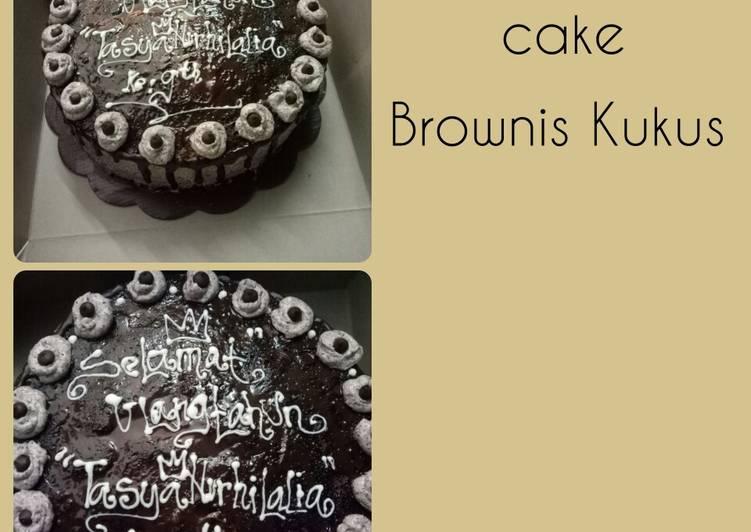 Cake Brownis Kukus Lembut nyoklat bgt😊