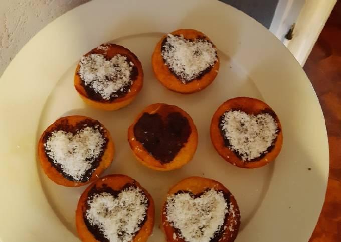 Muffin cœur choco-coco