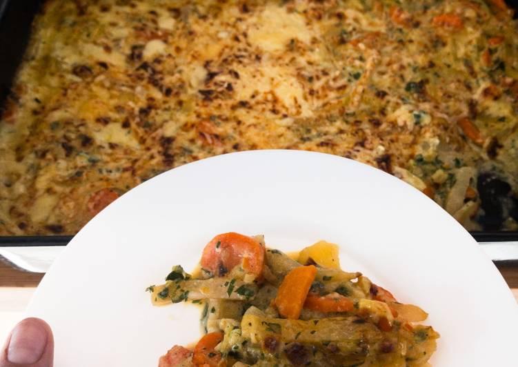 Vegetarischer Gemüseauflauf Schnüsch-Gratin (norddeutsch)