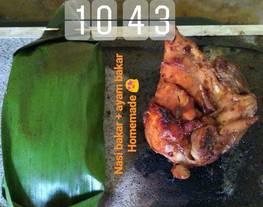 Nasi bakar + ayam bakar
