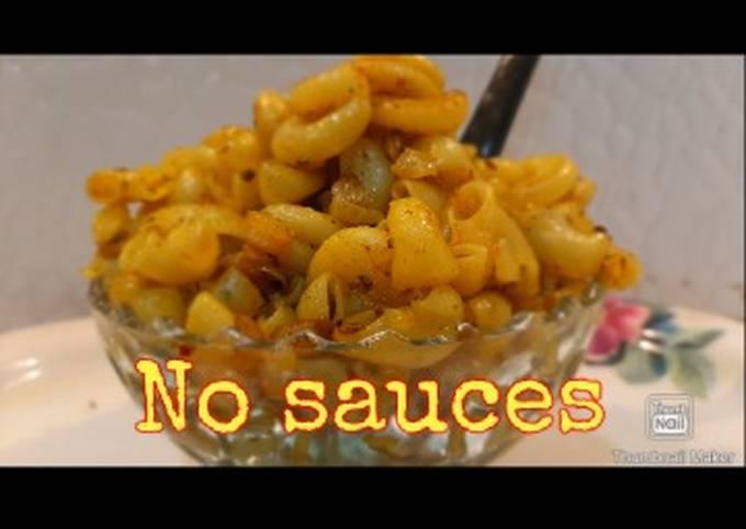 Recipe: Tasty No sauce pasta recipe
