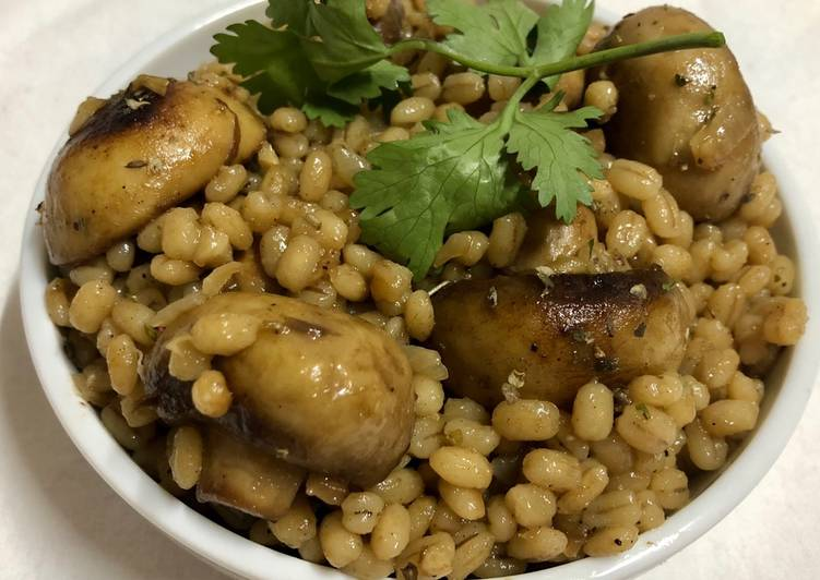Easiest Way to Prepare Perfect Barley mushroom Risotto