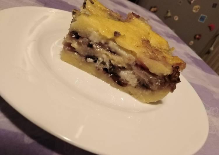 Recipe: Tasty Sformato di polenta con radicchio e gorgonzola