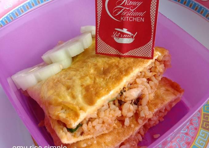 357. Omu Rice Simple (untuk bekal)