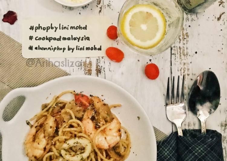 Spaghetti Aglio Olio #phopbylinimohd - velavinkabakery.com