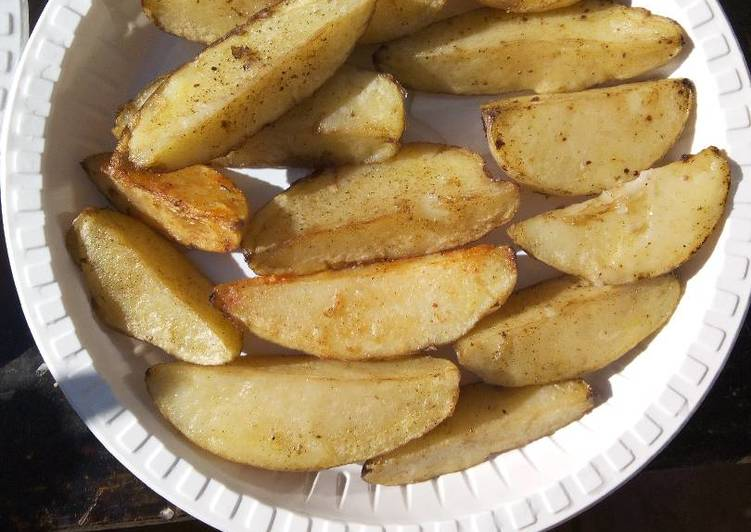 Easiest Way to Make Tasty Deep fried potatoes