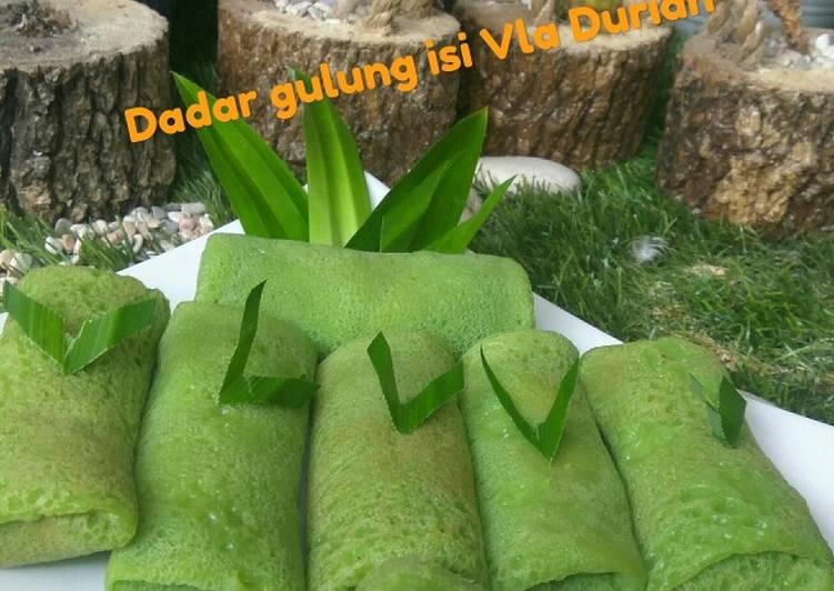 Dadar Gulung Isi Vla Durian