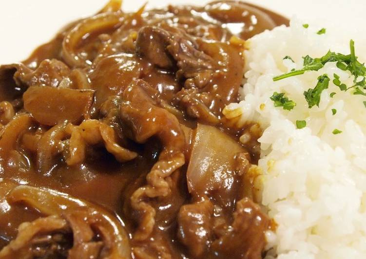 Recipe: Delicious Easy Hashed Beef (Hayashi) Using Red Wine