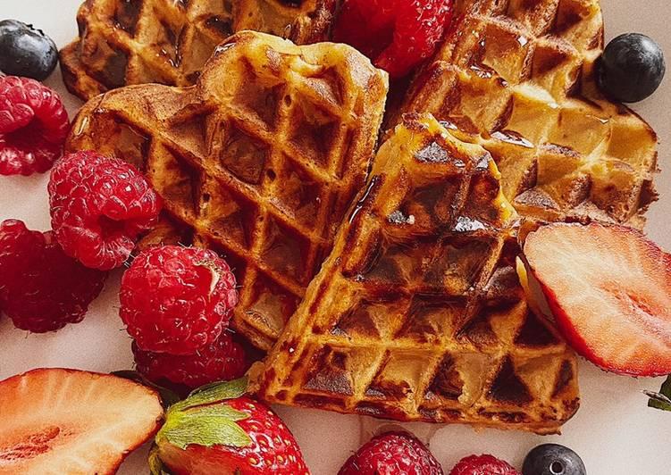How to Prepare Tasty Super tasty apple waffles 🧇