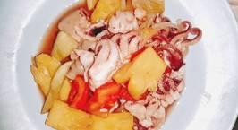 Hình ảnh món Bạch tuộc xào rau củ mùa dịch?