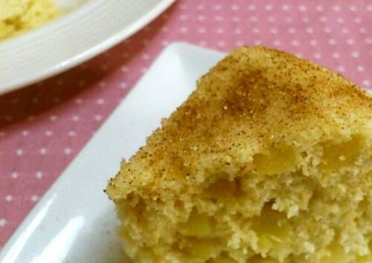 Easy Cooking in One Bowl Microwave Apple Steamed Bread