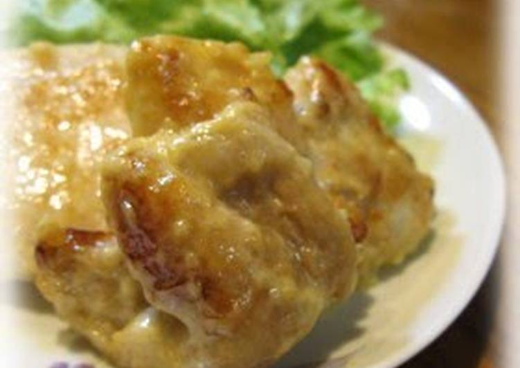 Sautéed Shio-Koji Marinated Chicken Breast with Wasabi-Soy Sauce-Mayonnaise
