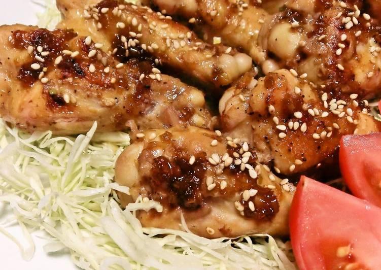 Flavorful Teriyaki Chicken Drumettes In a Frying Pan