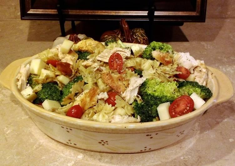 Easy peasy leftovers pasta salad