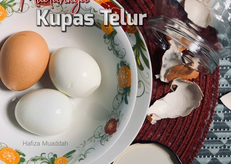 Tips: Mudahnya mengupas telur