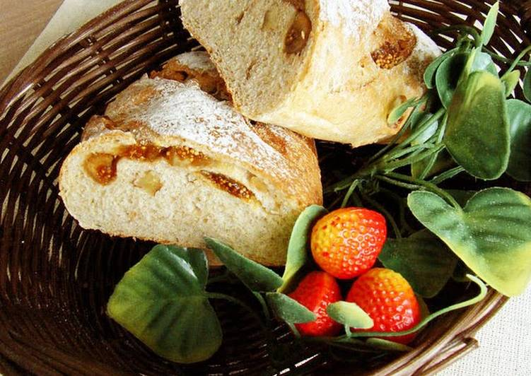 Recipe of Ultimate Fig and Walnut Whole Wheat Bread