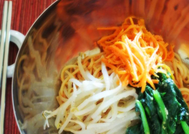 Bibimbap Noodles With Vegetable Namul and All-Purpose Korean Sauce