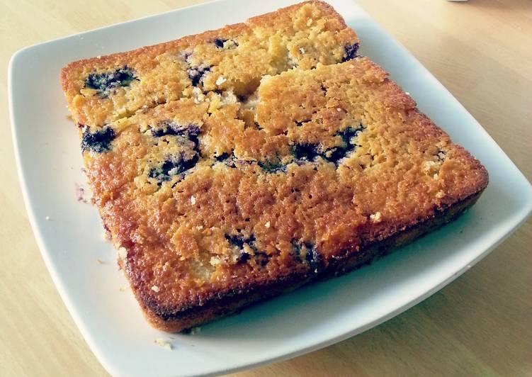 Blueberry Lemon Walnut Cake