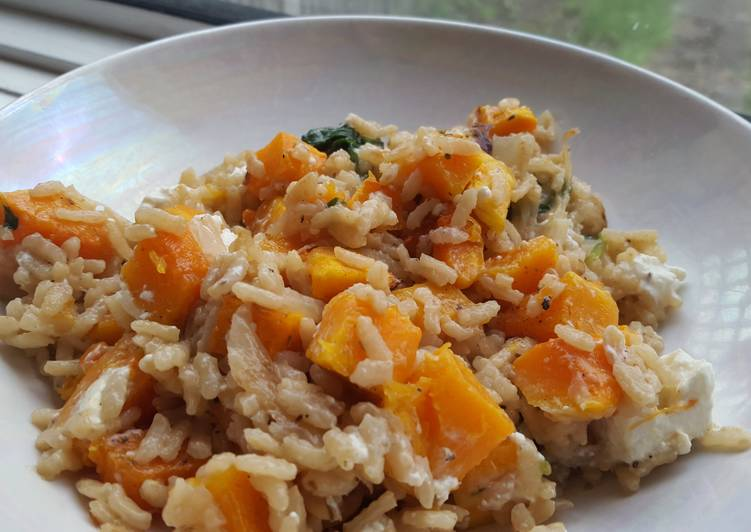 How to Prepare Quick Butternut Squash and Spinach Risotto