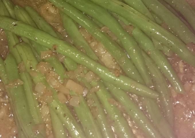 Quick crunchy greenbeans
