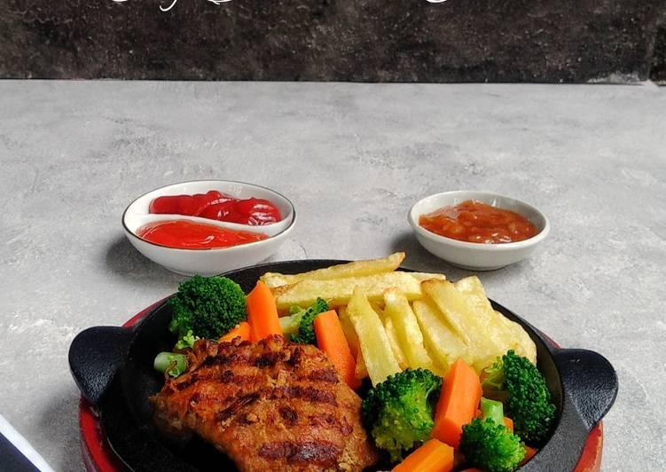 Beef steak ala cina