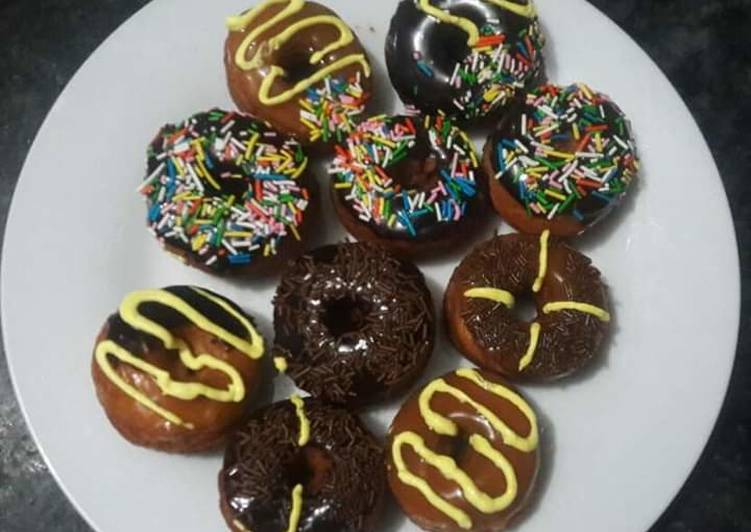 Easiest Way to Prepare Quick Chocolate donuts