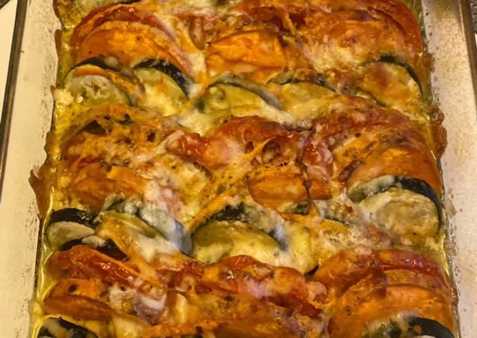 66• 🍆 Tian Provençal aux légumes et Patate douce 🍠