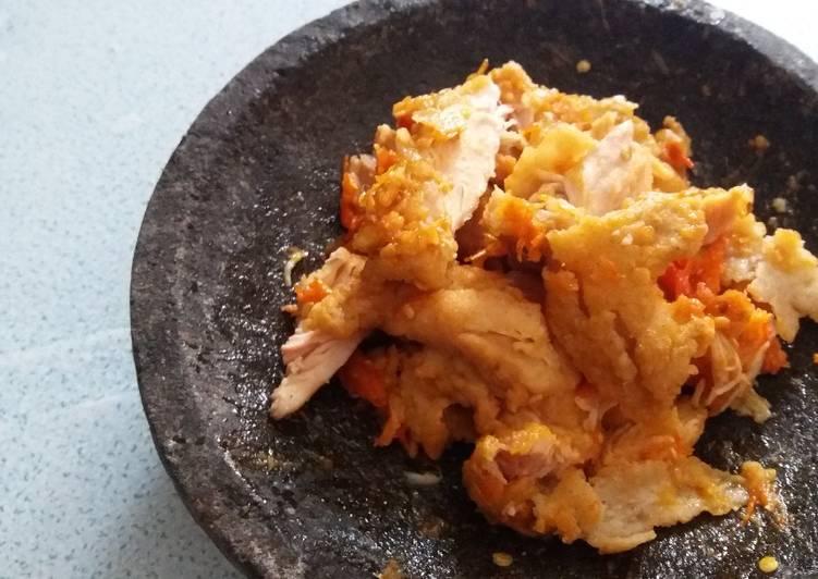Ayam Geprek Crispy Sambal Kencur