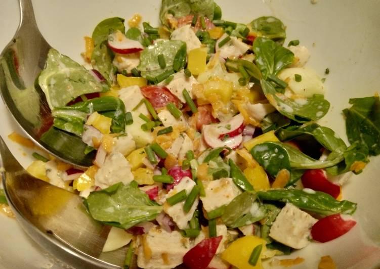 wie man bereiten Perfekt Bunter Weißwurst-Salat mit Buttermilch-Vinaigrette