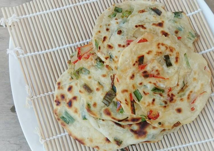 Recipe: Tasty Scallion Vegan Pancake