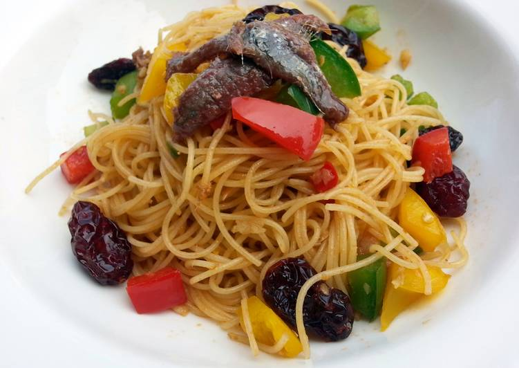 Recipe of Ultimate Anchovies Angel Hair