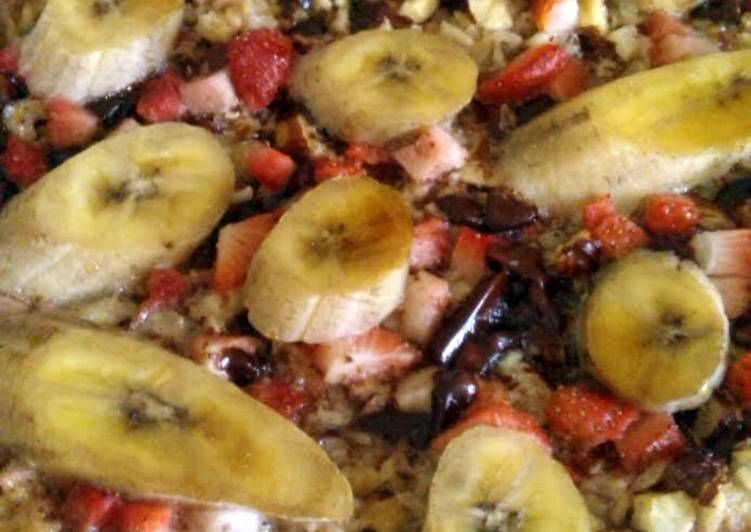 Vickys Breakfast Baked Fruity Oats, GF DF EF SF NF