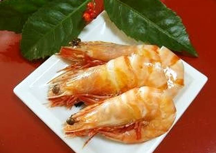 Sweet Simmered Shrimp for Osechi (New Year's Feast)