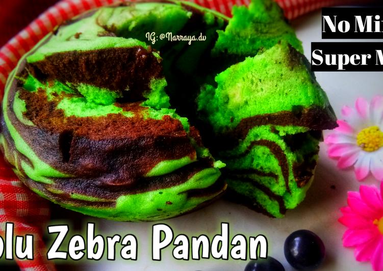 cara bikin Bolu Zebra Pandan #Nomixer #1telur - Sajian Dapur Bunda