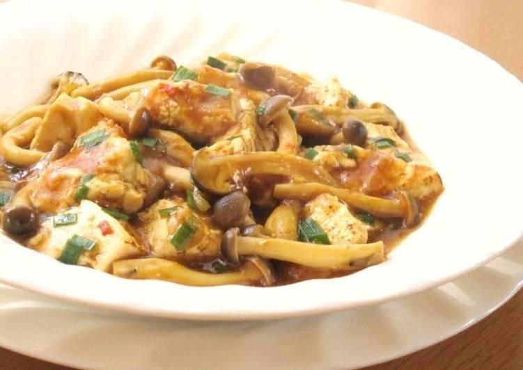 Recipe: Yummy Meat-free, Grilled Tofu and Mushroom Mapo Doufu