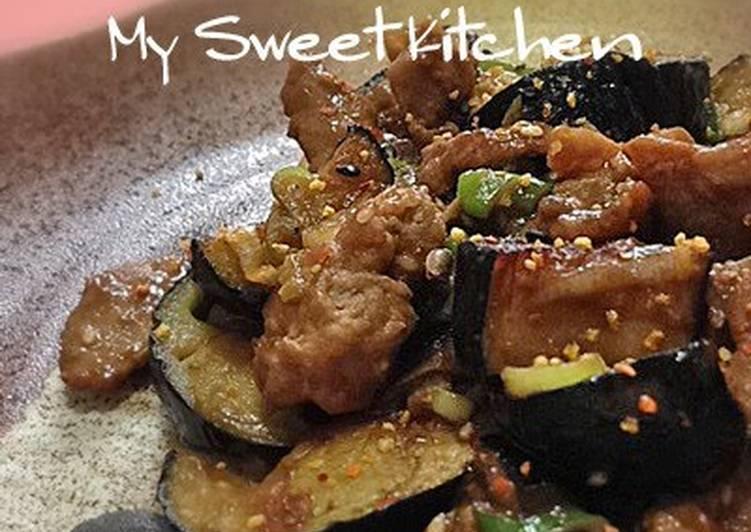 My Family's Pork & Eggplant Dengaku Miso-Flavored Stir-Fry
