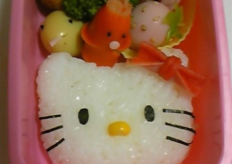 Easy Hello Kitty Character Bento