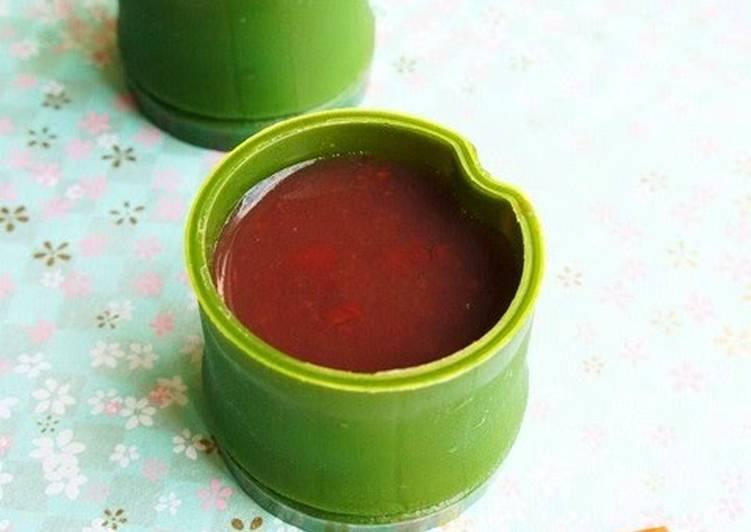 Mature Taste ~ Salty Mizu-Yokan (Jellied Red Bean Paste)