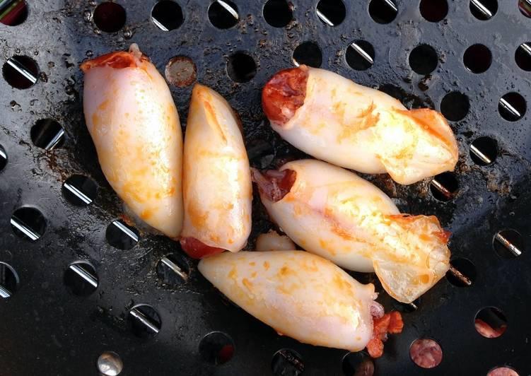 Chorizo Stuffed Squid